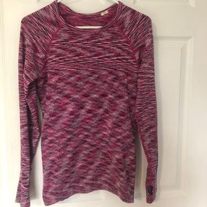 Forever 21 Trendy Long Sleeve Workout Top